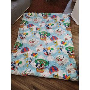 Vtg Disney Mickey Air Mobile Comforter